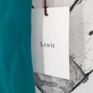 Lewit Dresses - Lewit Asymmetrical Slit Sleeve Crepe Dress